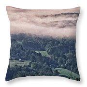 Clouds Above The Valley Panoramic Throw Pillow
