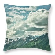 Clouds Alaska Mtns  Throw Pillow