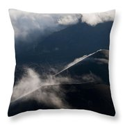 Clouds And Cinder Cones Throw Pillow