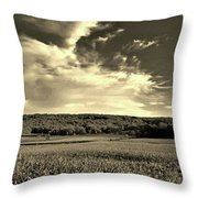 Clouds And Cornfields Throw Pillow