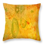 Clouds And Crystals Abstract #2 Throw Pillow