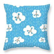 Clouds And Methane Molecules Pattern Throw Pillow