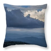 Clouds And Mountain Range Throw Pillow