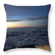 Clouds And Plane Throw Pillow