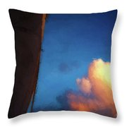 Clouds And Sails Throw Pillow