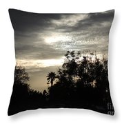 Clouds And Silhouetted Trees Throw Pillow