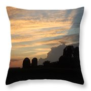 Clouds And Silos  Throw Pillow