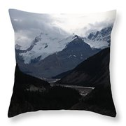 Clouds And Snow In The Mountains Throw Pillow