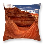 Clouds And Sun Over The Wave Throw Pillow