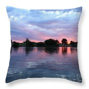 Clouds And Sunset Reflection In Prosser Throw Pillow