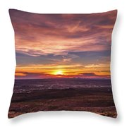 Clouds And Sunset Throw Pillow