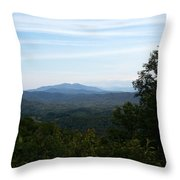 Clouds And The Smokies Throw Pillow