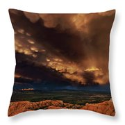 Clouds And Thunderstorm Bryce Canyon National Park  Throw Pillow
