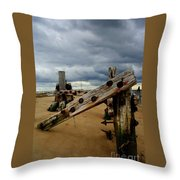 Clouds And Wooden Structure Throw Pillow
