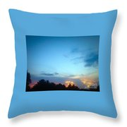 Clouds Arch Over Sunset Throw Pillow