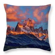 Clouds Around Fitz Roy - Patagonia Throw Pillow
