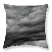 Clouds At Dusk Bw  Throw Pillow
