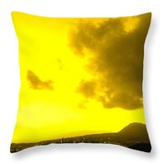 Clouds At Sunset Over Basseterre Throw Pillow