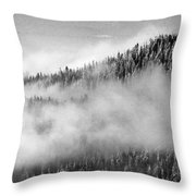Clouds At The Ridge  Throw Pillow