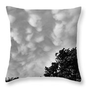 Clouds Before The Storm Throw Pillow