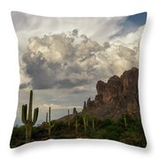 Clouds Bubbling Over The Superstitions  Throw Pillow