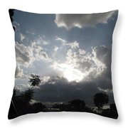 Clouds Buildup Throw Pillow
