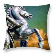 Clouds By Pegasus Throw Pillow