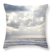 Clouds By The Sea Throw Pillow