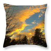Clouds Catching The Evening Light Throw Pillow