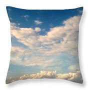 Clouds Clouds Clouds Throw Pillow
