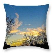 Clouds Dancing To The Sunset Light Throw Pillow