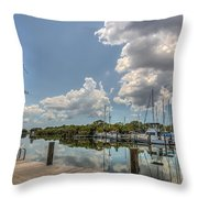 Clouds Down The Bay Throw Pillow