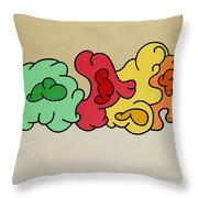 Clouds Drifting By Throw Pillow