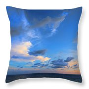 Clouds Drifting Over The Ocean Throw Pillow