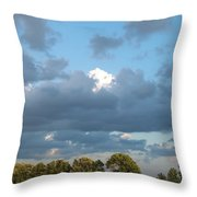 Clouds In A Bright Sky Throw Pillow