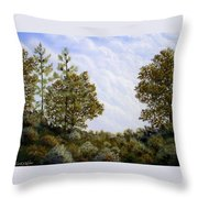 Clouds In Foothills Throw Pillow