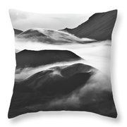 Maui Hawaii Haleakala National Park Clouds In Haleakala Crater Throw Pillow