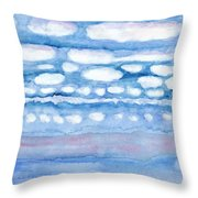 Clouds In My Head Throw Pillow
