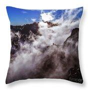 Clouds In The Caldera De Taburiente Throw Pillow