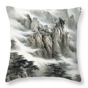 Clouds In The Mountain Throw Pillow