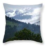 Clouds In The Rockies Throw Pillow