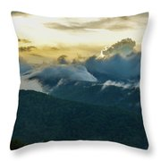 Clouds In The Smoky's Throw Pillow