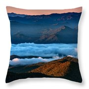 Clouds In The Valley Throw Pillow