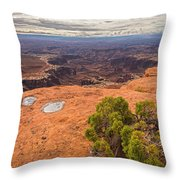 Clouds Junipers And Potholes Throw Pillow
