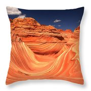 Clouds Kissing The Wave Throw Pillow