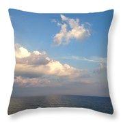 Clouds Meet Ocean Throw Pillow