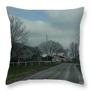 Clouds Move In On An Early April Morning Throw Pillow