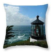 Clouds Moving In Throw Pillow