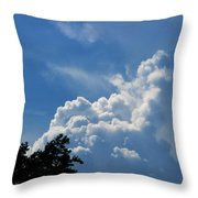 Clouds Of Art Throw Pillow