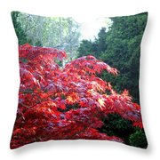 Clouds Of Leaves Throw Pillow